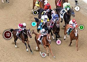 2014 Kentucky Oaks Race Sequence