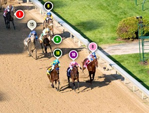 2015 Kentucky Derby Race Sequence