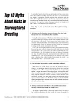 Top 10 Myths about Nicks in Thoroughbred Breeding