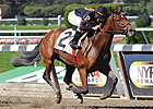 Awesome Feather Wins Comeback at Belmont
