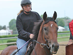 Big Brown Jogs at Churchill Downs