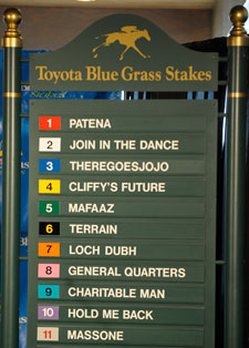 Hold Me Back Favored in Blue Grass