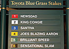 Blue Grass Stakes: Win or You're Out