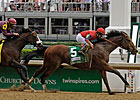 Bullsbay Rides Rail for Alysheba Win