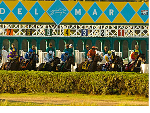 Del Mar: Attendance Up, Handle Down a Bit