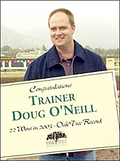 Doug O'Neill Eclipses Baffert's Oak Tree Mark