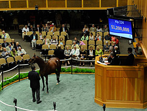 Saratoga Sale Finishes With Upswings