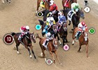 2014 Kentucky Oaks Race Sequence