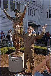 Churchill Unveils Statue of Pat Day