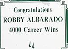 Robby Albarado Joins 4,000-Win Club