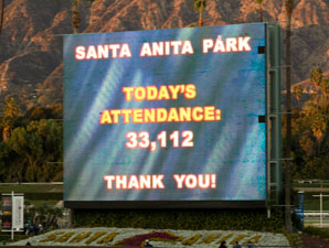 33,112 Return to Santa Anita for Opener