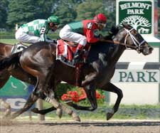 Silver Train Takes Outer Track to Tom Fool Win